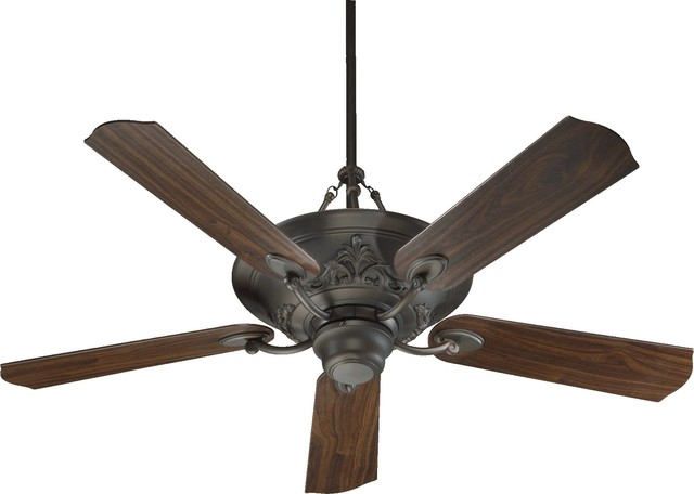 Quorum 56 5 Blade Salon Fan, Oiled Bronze.