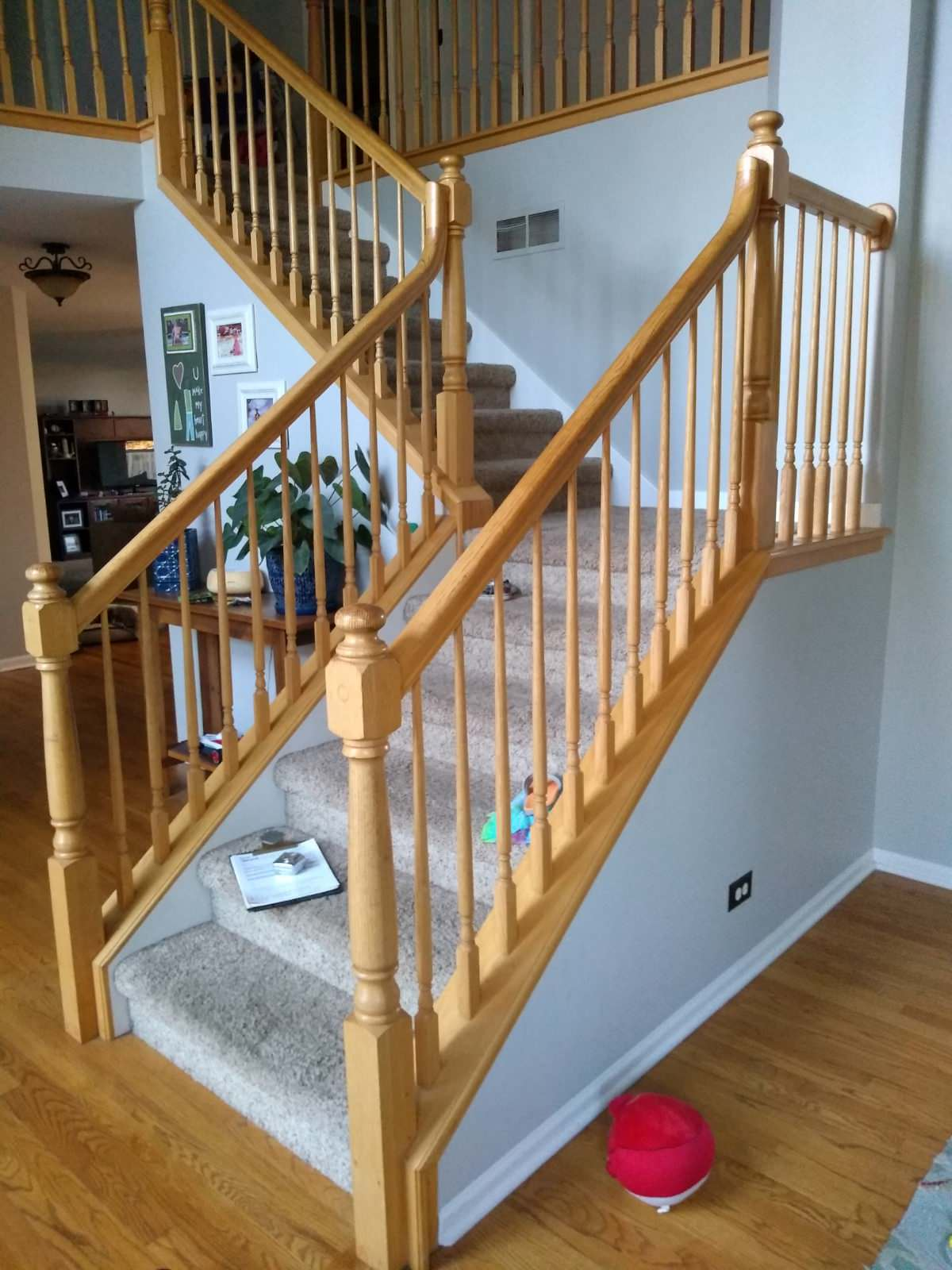 Staircase renovation with flooring