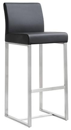 Denmark Black Stainless Steel Barstool (set Of 2)