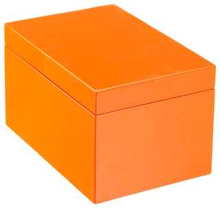Large Lacquered Rectangular Box - Modern - Decorative ...
