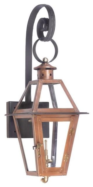 Natural Gas Wall Lamps : Elk Lighting 7927-WP Grande Isle Outdoor Wall Mounted Natural Gas Lantern - Transitional ...