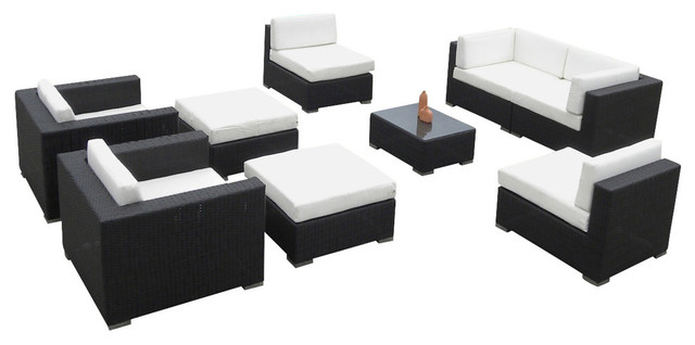 Pleasant Outdoor Wicker Sofa Sectional 9 Piece Resin Couch Set Unemploymentrelief Wooden Chair Designs For Living Room Unemploymentrelieforg
