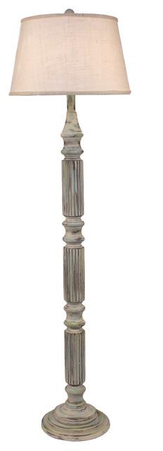 Shabby Summer Ribbed Floor Lamp.