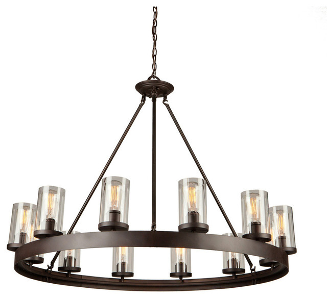 Menlo Park 12 Light Oil Rubbed Bronze Chandelier