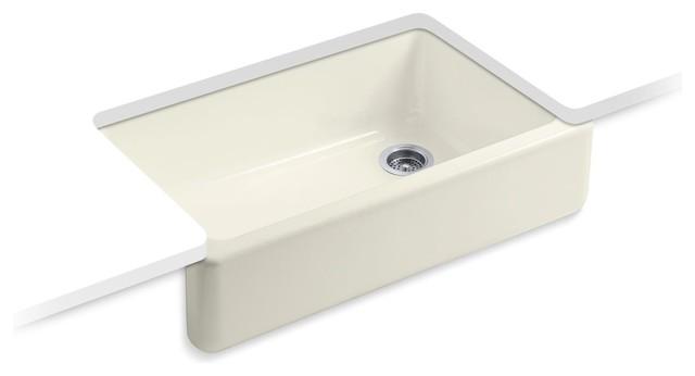 Kohler Whitehaven, 36 Under-Mount Kitchen Sink, Tall Apron, Biscuit.