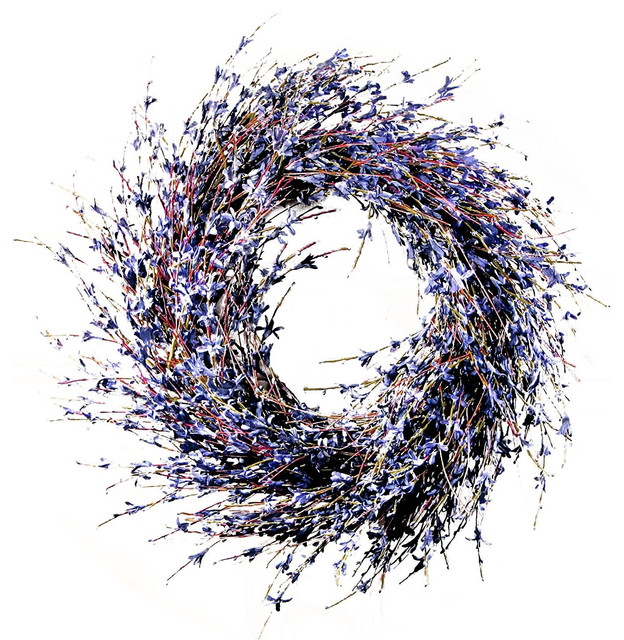 Faux Dried Lavender Floral Door Wreath.