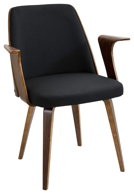Fabian Walnut Chair, Black.
