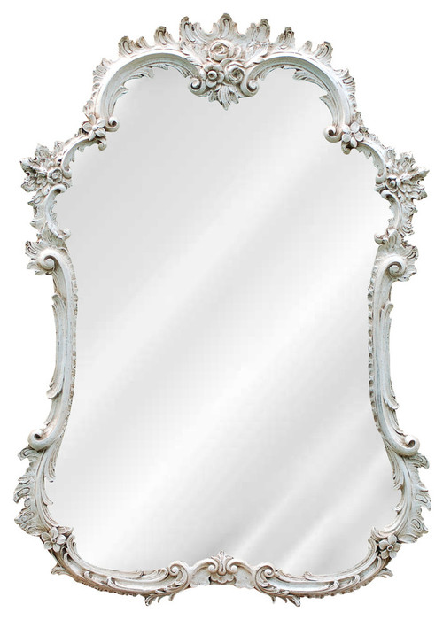 French Mirror, Old World White