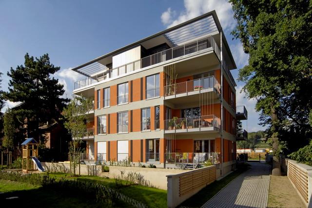 Neubau mehrfamilienhaus k the kollwitz ufer 87 dresden for Mehrfamilienhaus modern