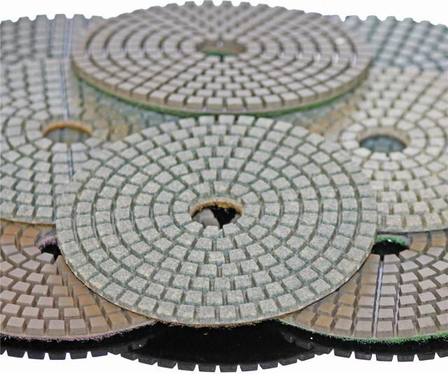 Stadea 6 Diamond Polishing Pads For Concrete Stones Terrazzo Granite Polish Se