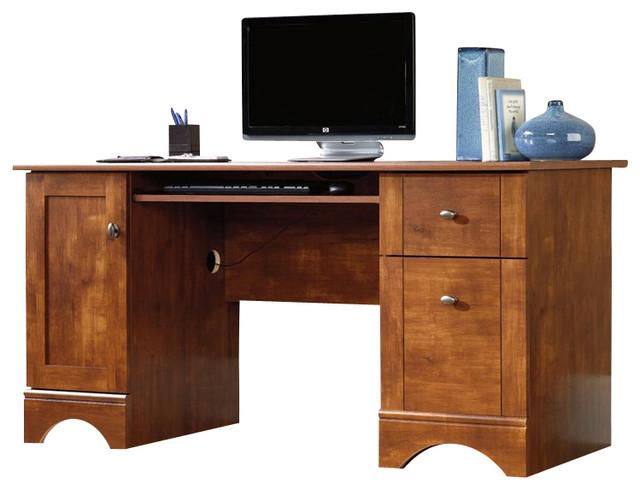Sauder Computer Desk In Brushed Maple Transitional