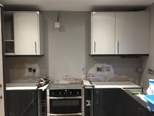 Kitchen Wall Unit Pelmet Colour Dividing Opinion - Grey kitchen wall units