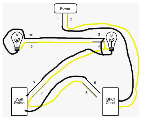Wiring Lights And Outlets On Same Circuit Diagram: Endearing 10+ Bathroom Lights And Receptacles On Same Circuit ,Design