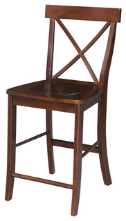 X-Back Counter Height Stool, Espresso
