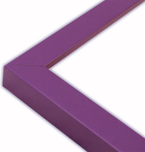"Narrow Flat Purple Picture Frame, Solid Wood, 16""x20"""