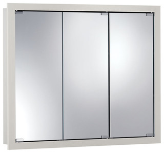 "Granville 36""x30"" Surface Mount White Medicine Cabinet - Contemporary - Medicine Cabinets - by ..."