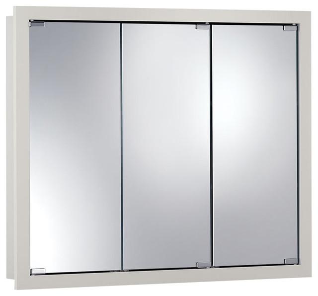 "Granville 36""x30"" Surface Mount White Medicine Cabinet."