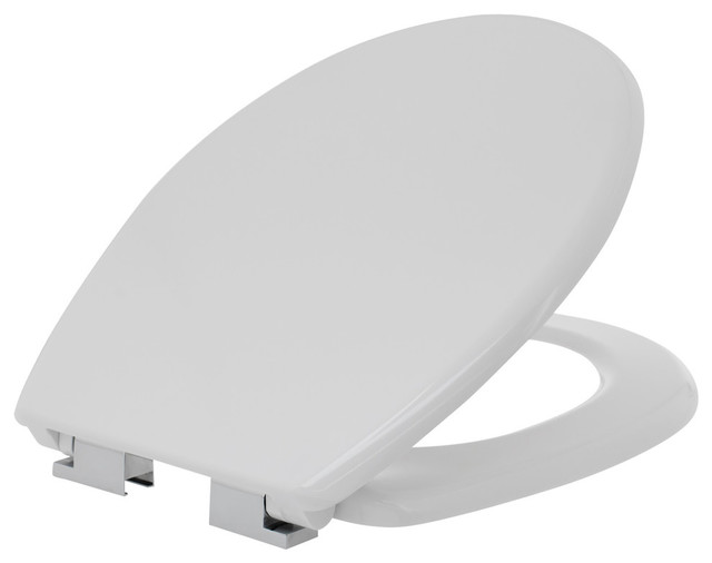 Enjoyable Kirkton 18 Round Toilet Seat And Lid With Soft Close Hinges White Machost Co Dining Chair Design Ideas Machostcouk
