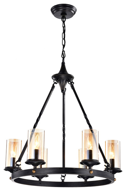 Batiya Chandelier, Antique Black.
