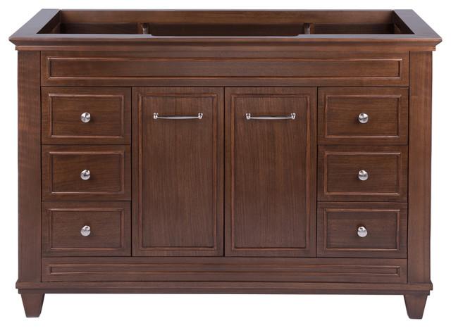 Aiden single sink bathroom vanity american walnut 48 - American classic bathroom vanity ...