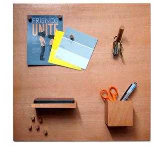 Magnetic wood bulletin board set modern bulletin for Modern bulletin board