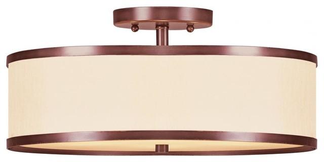 Shop Kichler Lighting 4 Light Bayley Olde Bronze Bathroom: We Got Lites Vintage Bronze Drum Shade Semi