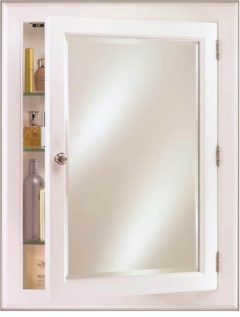 Recessed or Surface Mount Wood Medicine Cabinet, Devon ...