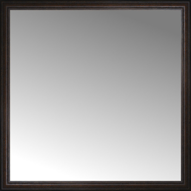 45x45 Custom Framed Mirror Traditional Wall Mirrors By