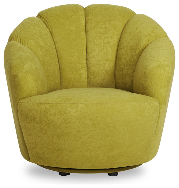 Newton Avocado Swivel Barrel Chair Contemporary Armchairs And Accent Chairs By