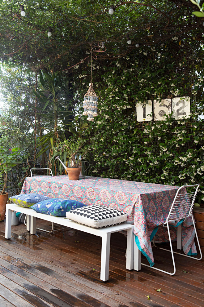 Eclectic deck in Melbourne.