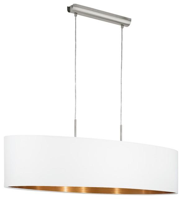 Pasteri White and Copper Pendant Light