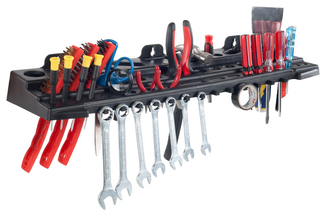 Stalwart 22 Inch Wall Mount Tool Organizer Shelf, Holds Over 60 Tools.