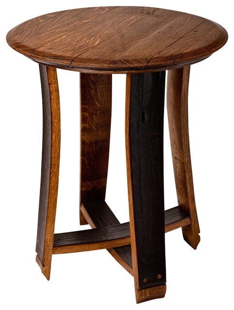 Barrel Top Accent Table Contemporary Side Tables And End Tables