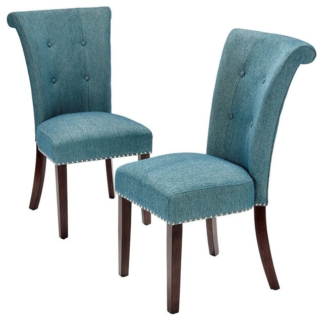 new arrive 42f8a 990a0 Madison Park Colfax Wood Dining Chairs, Set of 2, Blue