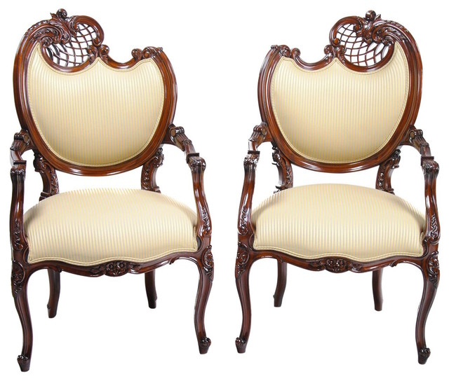 Pair Fireside Chairs, French Fireside Chairs