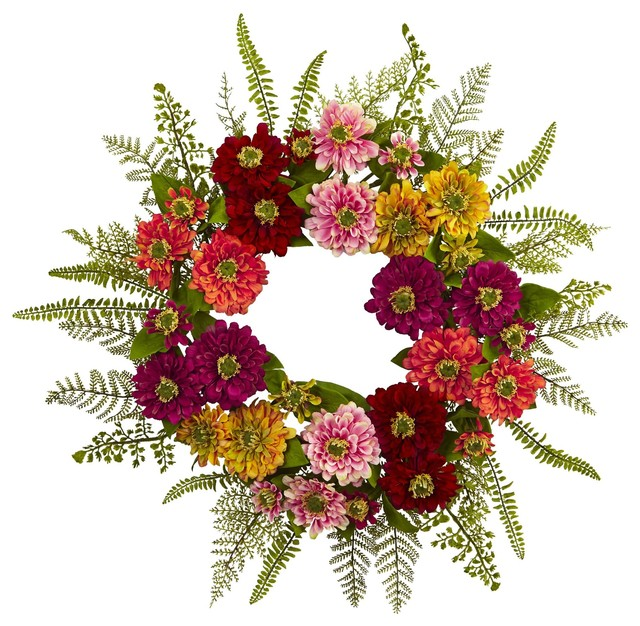 Front Door Wreath Mixed Flower Wreath No2 Tropical Wreaths And