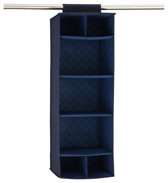 Sapphire Closet Organizer With Shelves And Cubbies.