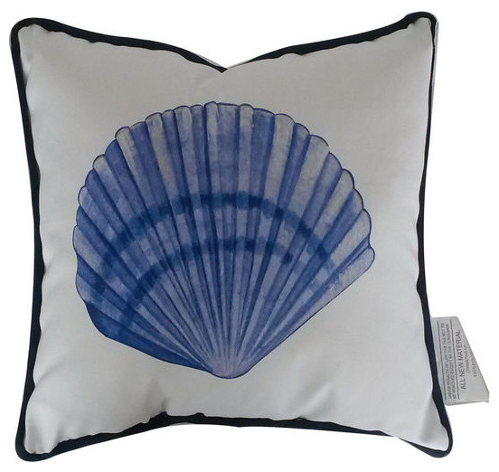 Seashell Decorative Throw Pillow Blue And White 40 Beach Style Unique Seashell Pillows Decorative