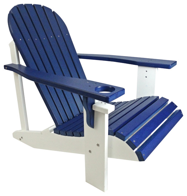 classic poly wood 2 tone adirondack chair contemporary