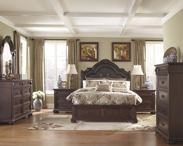King Caprivi Storage Bedroom Set B686 Transitional Bedroom Furniture Sets