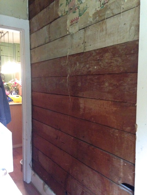 How To Seal And Paint Old Shiplap In Interior Hallway