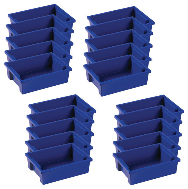 Small Storage Bin Without Lid, 8 Piece Set, Blue