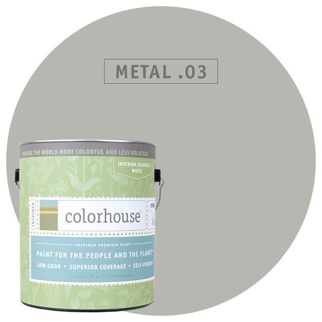 Inspired Eggshell Interior Paint, Metal .03, 5-Gallon