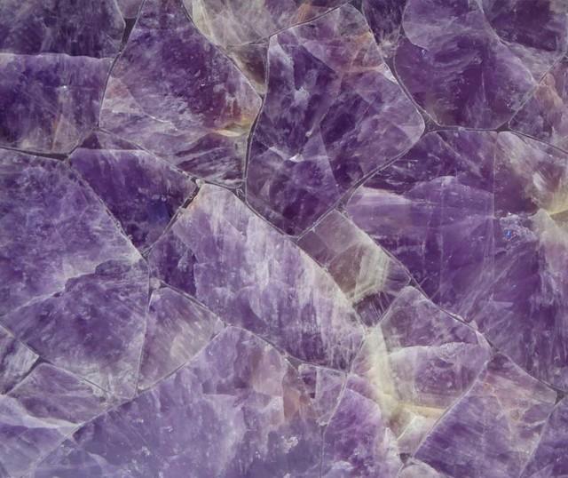 """60""""x100"""" Semi Precious Gemstone Amethyst Stone Slab."""