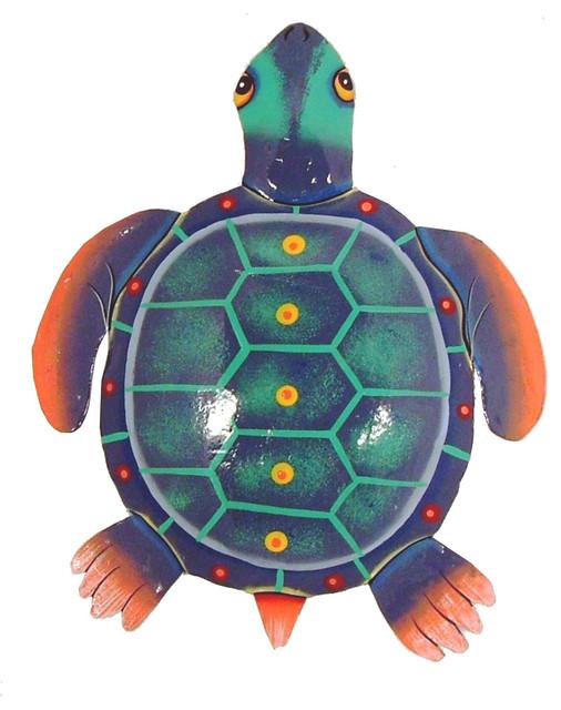 Sea Turtle Tiki Decor Haitian Metal