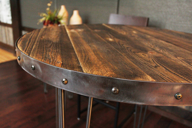 Reclaimed Wood Round Table Modern