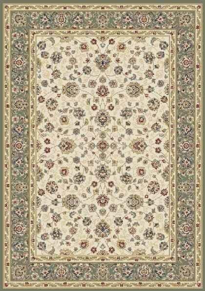 Floral Green Beautiful Modern Wool Rug Traditional