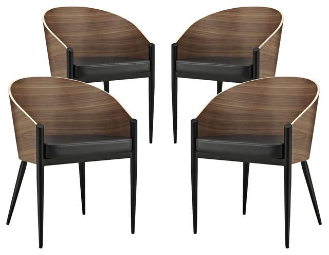 Cooper Dining Chairs Set Of 4 Eei 1683 Midcentury