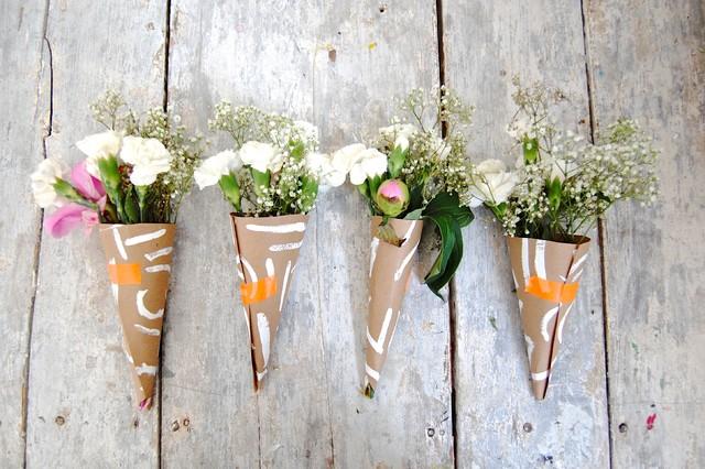 DIY: Floral Cones eclectic