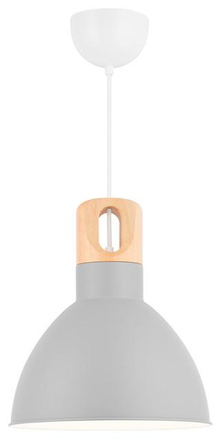 Bolero Pendant Light, Ash Wood Lampholder